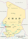 Chad Political Map