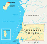 Equatorial Guinea Political Map