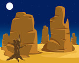 Vector  landscape of wild west.
