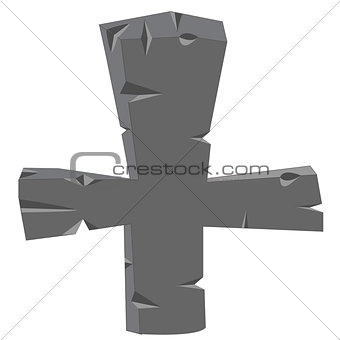 Cross from stone