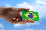 Small Brazilian flag
