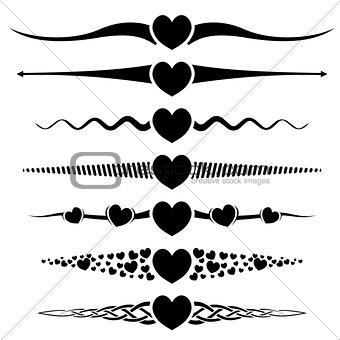 Valentine day design element
