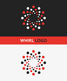 Vector logo design element. Abstract, vortex, swirl, whirl