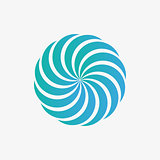 Vector logo design element. Abstract, whirl, swirl
