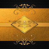 Invitation card with golden plate