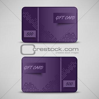 Modern violet gift card template
