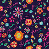 Seamless texture with flowers. Floral pattern.