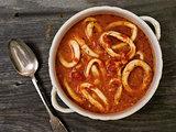 rustic italian calamari seafood soup