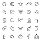 Ecology line icons on white background