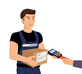 Delivery service and payment by credit card