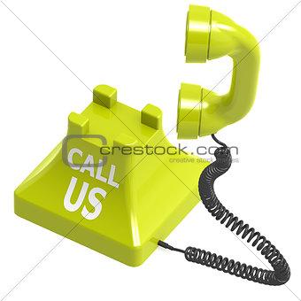Call us green phone