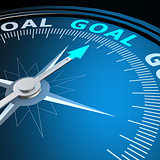 Goal word on compass