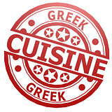 Greek cuisine stamp