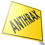 Road sign with anthrax