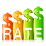 Rising Dollar Rate Concept