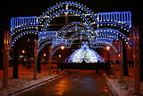 Christmas fountain at the Minin square Nizhny Novgorod