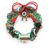 christmas wreath made by old computer parts