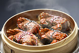steaming shanghai hairy crabs, chinese cuisine
