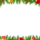 Christmas Fir Tree Borders Card