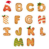 Christmas Gingerbread Cookie Alphabet