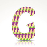 The letter G of the alphabet made of Grape