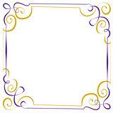 Multilayer vector violet yellow elegant frame