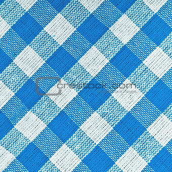 Bavarian Blue Checkered Tablecloth
