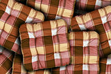 Plaid Brown Cushions