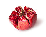 Broken Bright Ripe Delicious Juicy Pomegranate