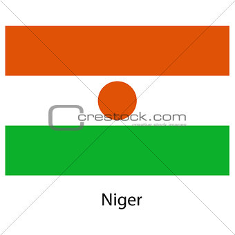 Flag  of the country  niger. Vector illustration.