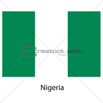 Flag  of the country  nigeria. Vector illustration.