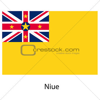 Flag  of the country  niue. Vector illustration.