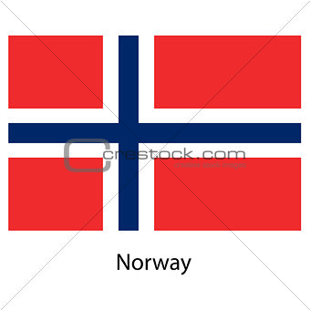 Flag  of the country  norway. Vector illustration.