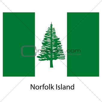 Flag  of the country  norfolk island. Vector illustration.