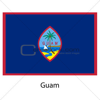 Flag  of the country  guam. Vector illustration.