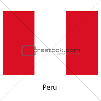 Flag  of the country  peru. Vector illustration.