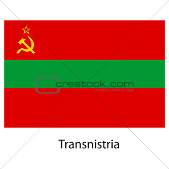 Flag  of the country  transnistria. Vector illustration.