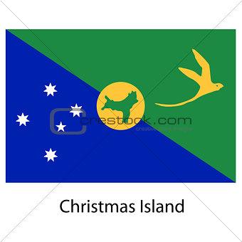 Flag  of the country  christmas island. Vector illustration.