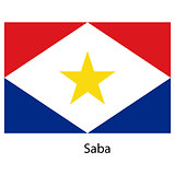 Flag  of the country  saba. Vector illustration.