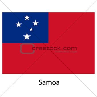 Flag  of the country  samoa. Vector illustration.