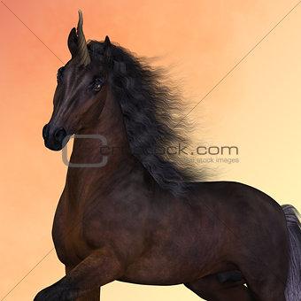 Bay Unicorn Prance
