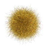 3d yellow orange  hairball over white