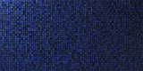 grungy mosaic wall in deep blue