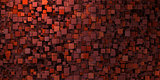 3d irregular grungy mosaic wall in deep red