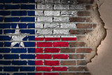 Dark brick wall with plaster - Texas