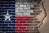 Dark brick wall with plaster - Texas