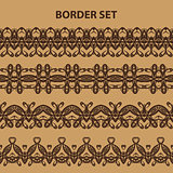 Brown Border Pattern Set