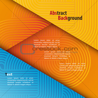 Abstract Background with Rounded Pattern