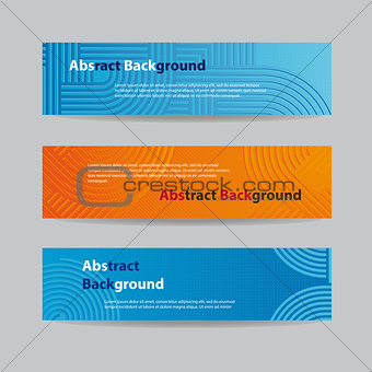 Abstract Blue and Orange Banners