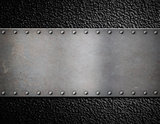 metal plate with rivets background